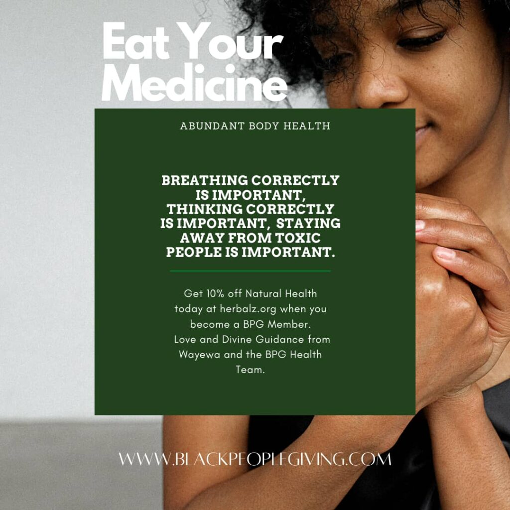 Eat your medicine (BPG)